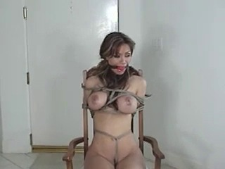 Chair tied girl